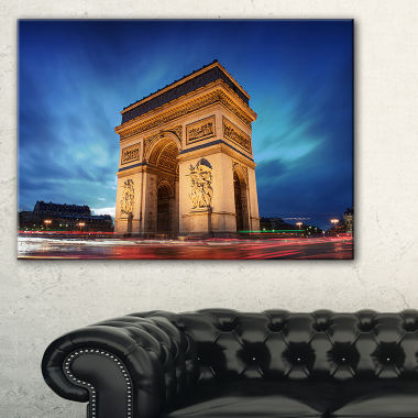 Designart Arch Of Triumph In Paris Landscape PhotoCanvas Art Print