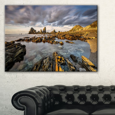Designart Atlantic Coast In Spain Seashore Photography Canvas Print