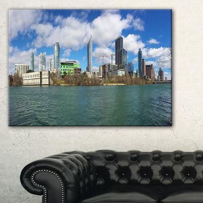 Designart Austin Skyline On Sunny Day Cityscape Photo Canvas Print