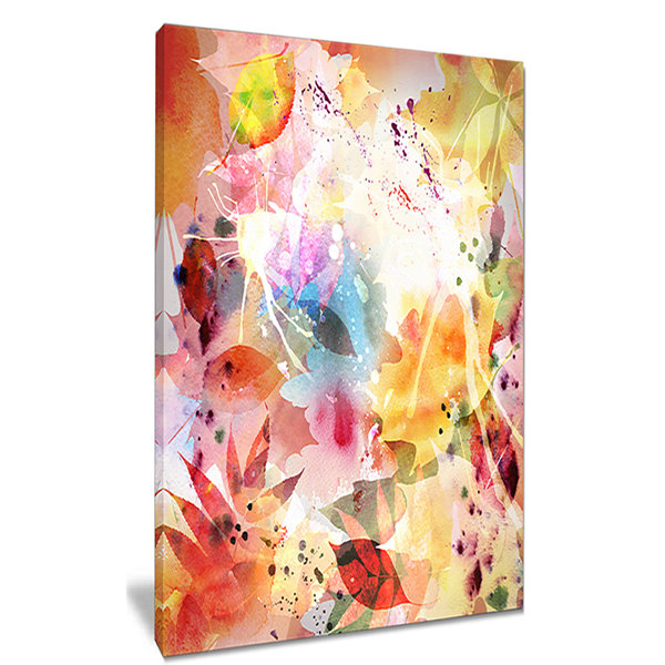 Design Art Autumn Floral Pattern Floral Canvas ArtPrint