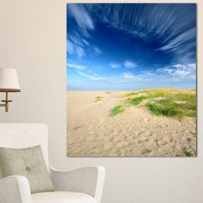 Designart Baltic Sandy Beach Landscape Photo Canvas Art Print - 3 Panels