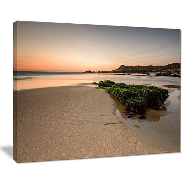 Designart Beach At Sunset In Spain Seashore Photography Canvas Print