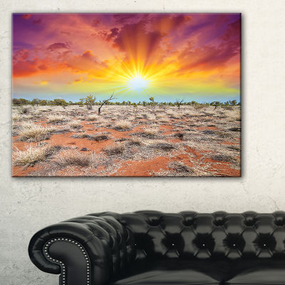 Designart Beautiful Colors Of Earth Landscape Photography Canvas Print - 3 Panels