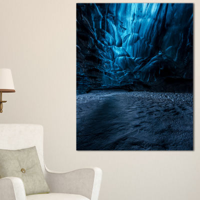 Designart Beautiful Ice Cave In Iceland LandscapePhotography Canvas Print
