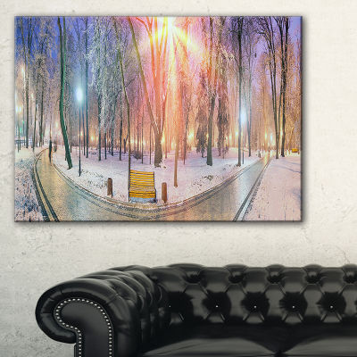 Design Art Beautiful Mariinsky Garden View Landscape Photography Canvas Print - 3 Panels