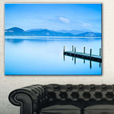 Designart Beautiful Pier In Sea Seascape Canvas Art Print - 3 Panels