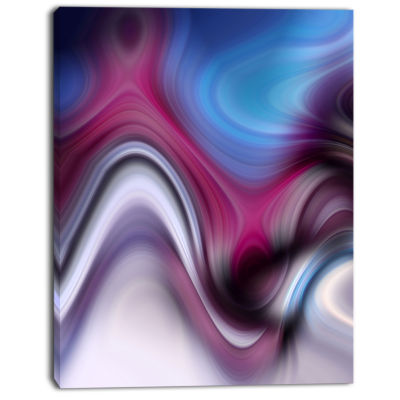 Designart Beautiful Texture Of Blue Purple Large Abstract Art