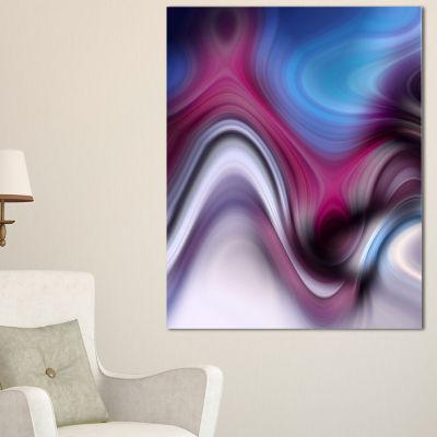 Designart Beautiful Texture Of Blue Purple Large Abstract Art - 3 Panels