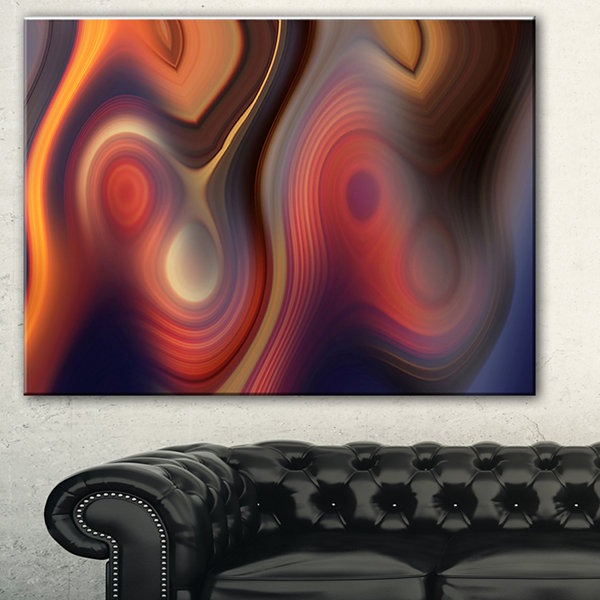 Designart Beautiful Texture Of Colors Large Abstract Art - 3 Panels