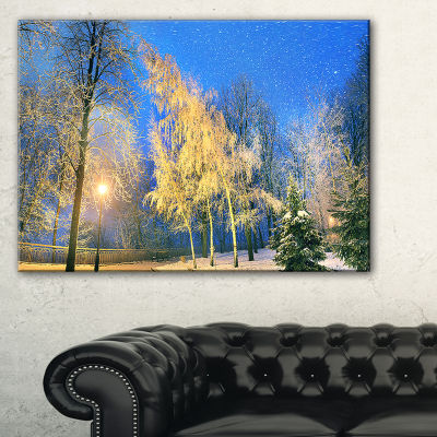 Designart Bent Trees Mariinsky Garden Landscape Photography Canvas Print - 3 Panels