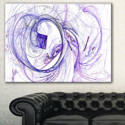 Designart Billowing Smoke Blue Abstract Canvas ArtPrint