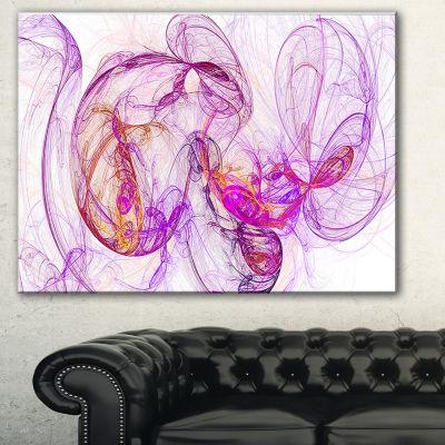 Designart Billowing Smoke Magenta Abstract CanvasArt Print