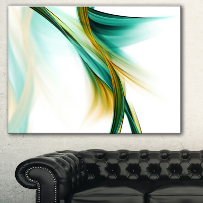 Designart Blue Gold Texture Pattern Abstract Canvas Art Print - 3 Panels