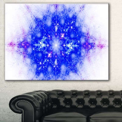 Designart Blue Illustration Pattern Abstract Canvas Art Print
