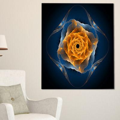 Designart Blue Nautilus Shell Pattern Abstract Canvas Art Print