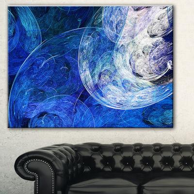 Design Art Blue Swirling Clouds Abstract Canvas ArtPrint