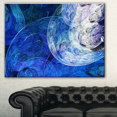 Designart Blue Swirling Clouds Abstract Canvas ArtPrint - 3 Panels