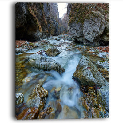 Designart Blue Water In River Landscape Photography Canvas Art Print