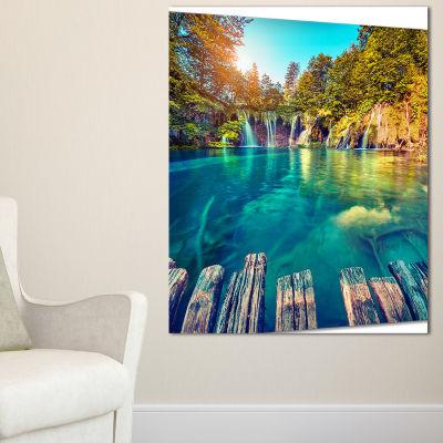 Designart Blue Waters In Plitvice Lakes LandscapePhoto Canvas Art Print