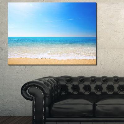 Designart Blue Waves At Tropical Beach Seashore Photo Canvas Print