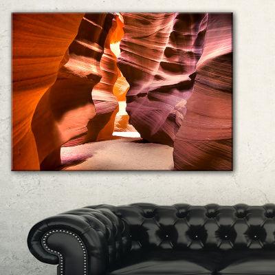 Designart Bright Antelope Canyon Landscape PhotoCanvas Art Print - 3 Panels