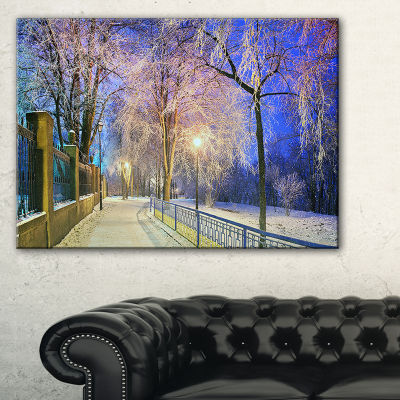 Designart Bright Blue Mariinsky Garden Landscape Photography Canvas Print