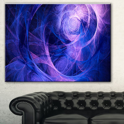 Design Art Bright Blue Stormy Sky Abstract CanvasArt Print