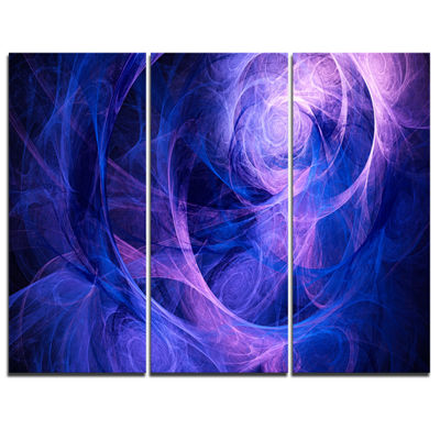 Designart Bright Blue Stormy Sky Abstract CanvasArt Print - 3 Panels