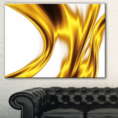 Design Art Bright Gold Texture Pattern Abstract Canvas Art Print - 3 Panels