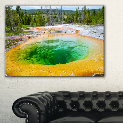 Designart Bright Morning Glory Pool Landscape Photo Canvas Art Print