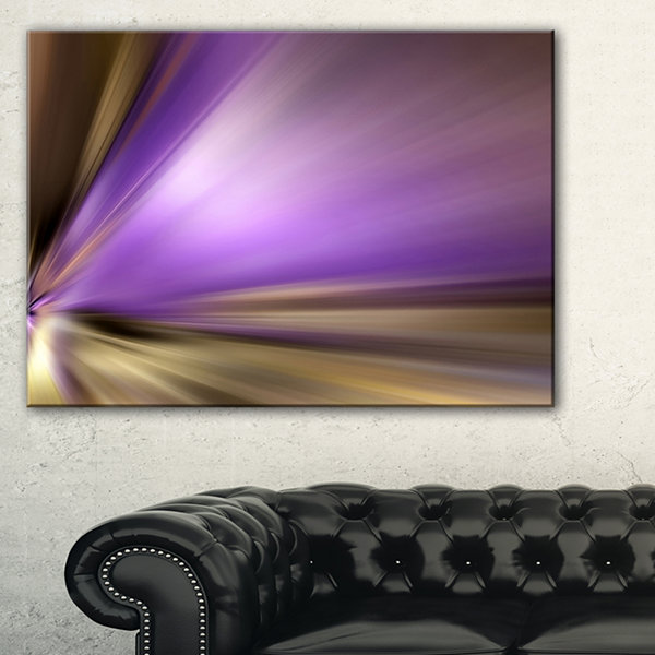 Designart Bright Purple Shade Upward Large Abstract Art