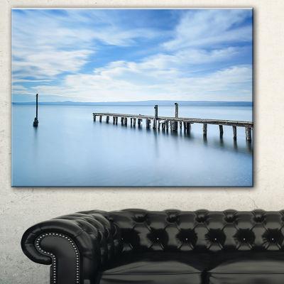 Designart Bright Sky And Blue Sea Seascape CanvasArt Print