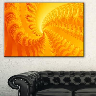 Designart Bright Yellow Abyss Abstract Canvas ArtPrint - 3 Panels
