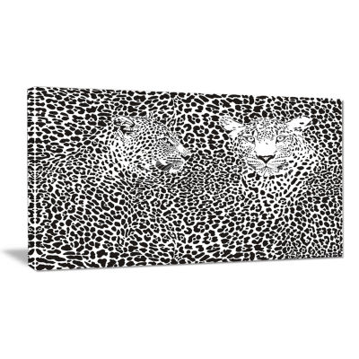 Designart Camouflage Leopards Animal Art Canvas Print
