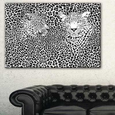 Designart Camouflage Leopards Animal Art Canvas Print - 3 Panels