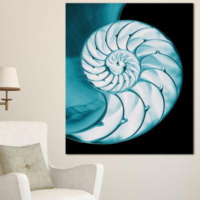 Designart Chambered Nautilus Shell Abstract CanvasArt Print