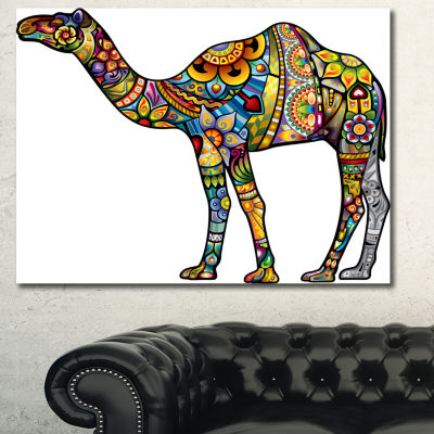 Designart Cheerful Camel Animal Canvas Art Print