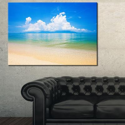 Design Art Cloudy Horizon Over Blue Sea Seashore Photo Canvas Art Print