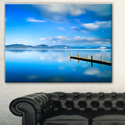 Designart Cloudy Sky Over Blue Sea Seascape CanvasArt Print - 3 Panels