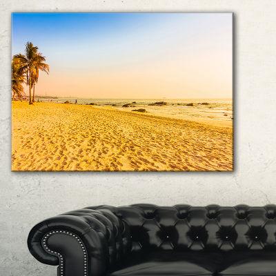 Designart Coconut Palm Trees On Beach Landscape Photography Canvas Print