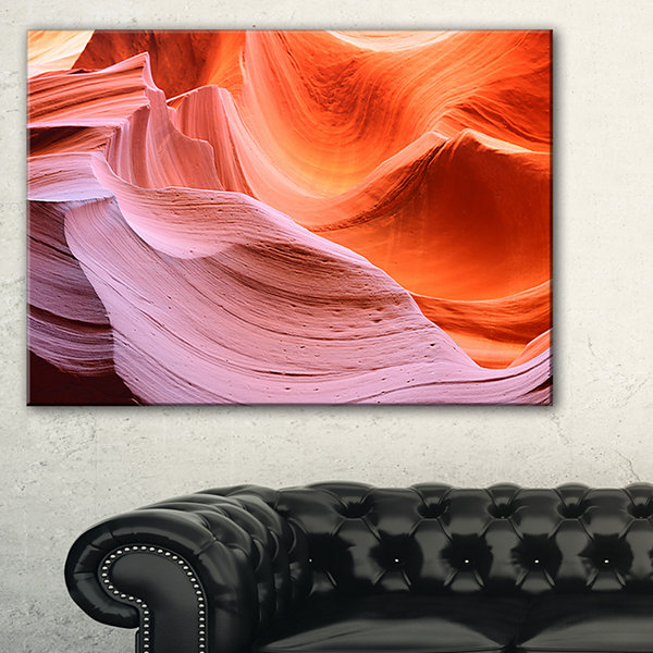 Design Art Color Layers In Antelope Canyon Landscape Photography Canvas Print