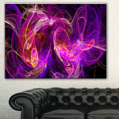 Designart Colored Smoke Blue Purple Abstract Canvas Art Print