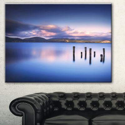 Designart Colorful Clouds At Sunset Seascape Canvas Art Print