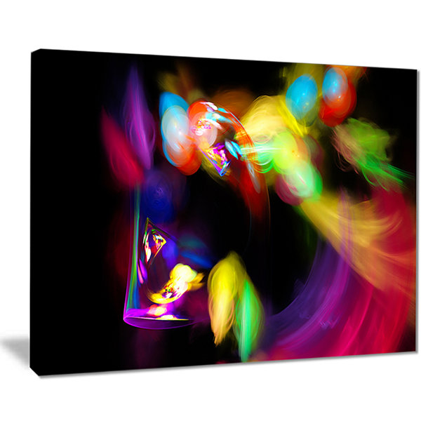 Designart Colorful Smoke Spiral Abstract Canvas Art Print