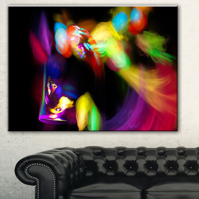 Designart Colorful Smoke Spiral Abstract Canvas Art Print - 3 Panels