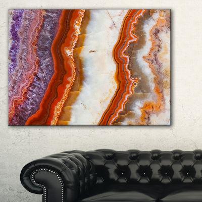 Designart Colorful Stone Stripes Abstract Canvas Art Print - 3 Panels