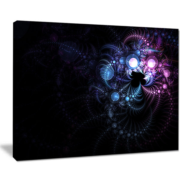 Designart Colorful Thorny Pattern In Dark FloralArt Canvas Print