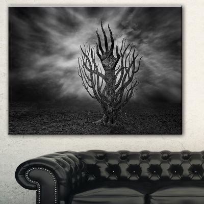 Designart Cry Of Hand Abstract Canvas Art Print -3 Panels