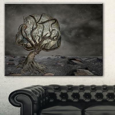 Designart Burden Of Life Abstract Canvas Art Print