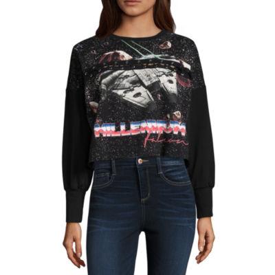 Star Wars Cropped Sweatshirt-Juniors